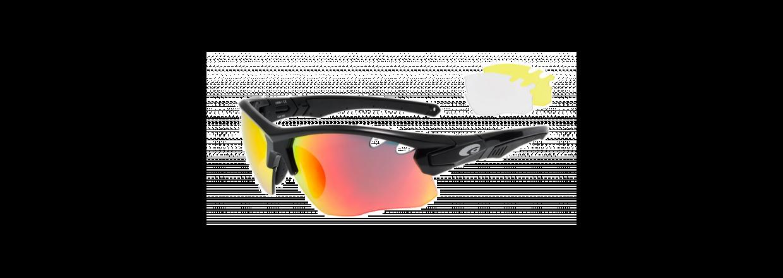 Cykelbriller og Løbebriller med udskiftelige linser<br>