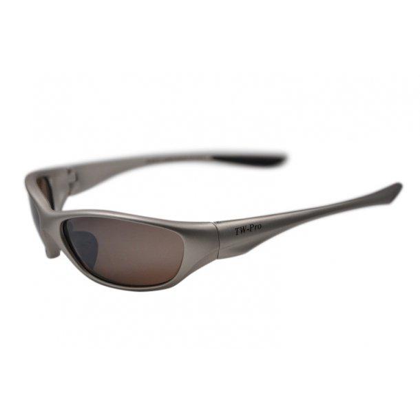 TW-331 Mat sølv løbesolbrille - cykelsolbrille