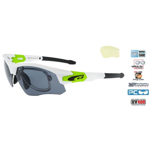 Goggle E642-2PR polaroid solbrille incl. 2 sæt linser og optisk indsats.