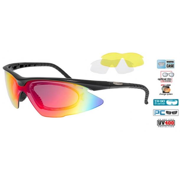 Goggle E680-2R incl. 3 sæt linser og optisk indsats