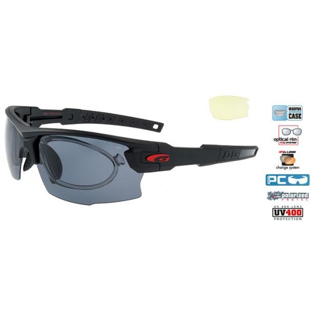 Goggle E842-1PR Polaroid solbrille incl. 2 sæt linser og optisk indsats