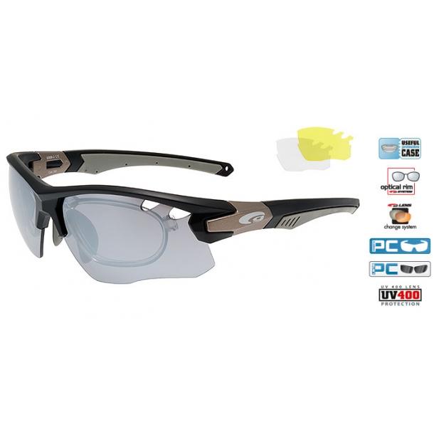 Goggle E858-2R incl. 3 sæt linser og optisk indsats