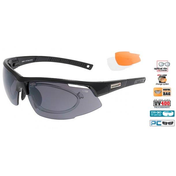 Goggle E865-1R cykelbrille incl. 3 sæt linser og optisk indsats.