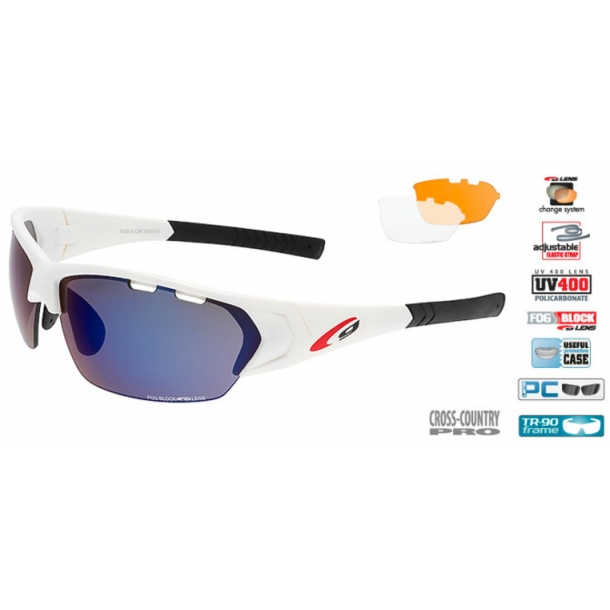 Goggle T428-3 Cykelbrille incl. 3 sæt dugfri linser.