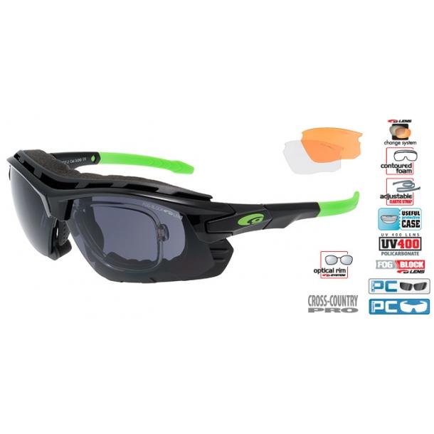 Goggle T637-2R incl. 3 sæt Fog block linser og optisk indsats.