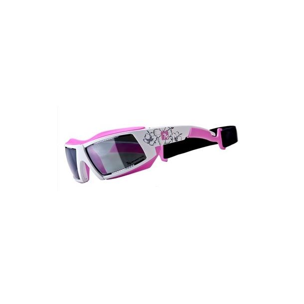 Armour Shark Polaroid Hvid/Pink incl. 2 sæt linser